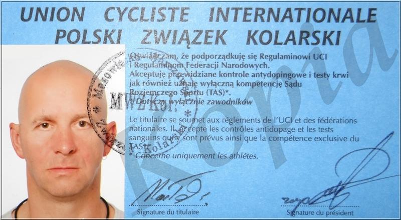 Legitymacja UCI