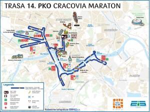 Trasa 14. PKO Crakowia Maraton