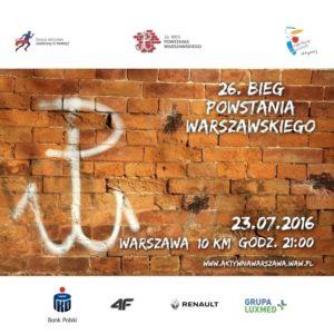 26 Bieg Powstania Warszawskiego - plakat